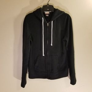 Mossimo Supply Co black full zip hoodie